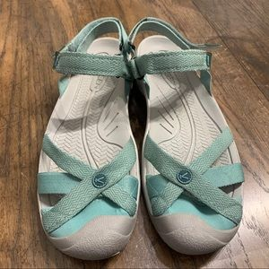 Keen Women's Bali Duck Green Strap Sandals